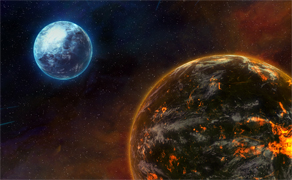 Frostfire Planets
